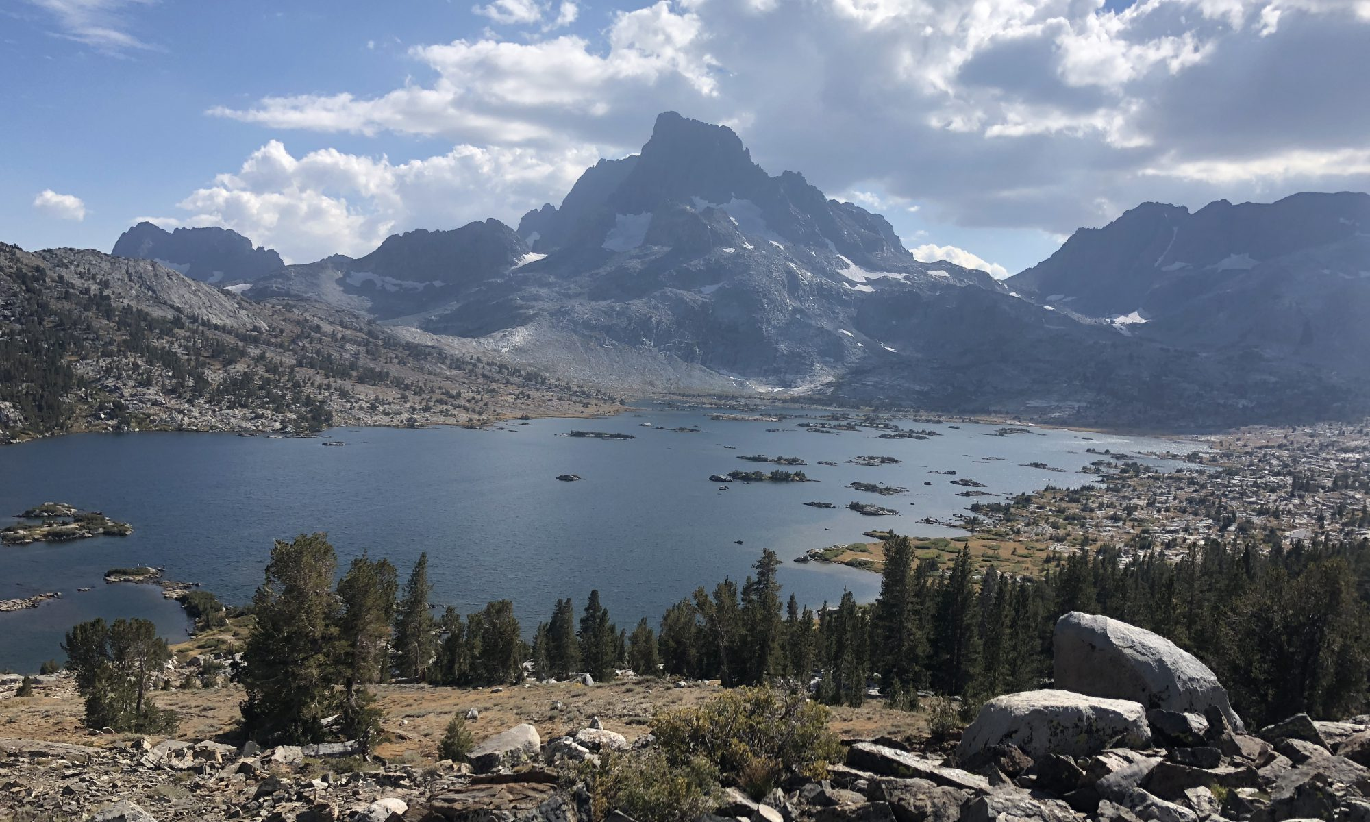 Thousand Islands Lake north of Mammoth Lakes, CA from the Pacific Crest Trail